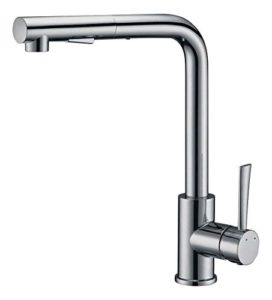 Pull Out Kitchen Sink Faucet, SURNORME Single Handle Kitchen Sink Faucet  Hot U0026 Cold Mixer Tap With Magnetic Docking Spray Head For Home, Stainless  Steel ...